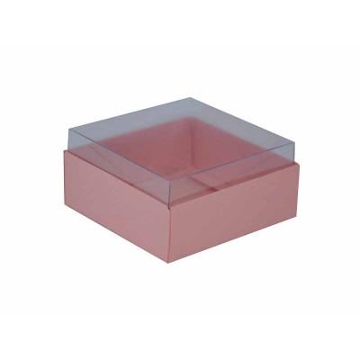 Caixa para 4 doces e bombons - Rosa Salmão