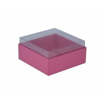 Caixa para 4 doces e bombons - Rosa Pink