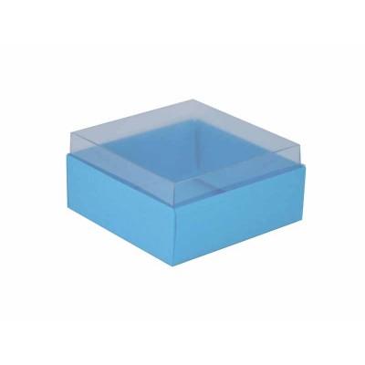 Caixa para 4 doces e bombons - Azul bebê