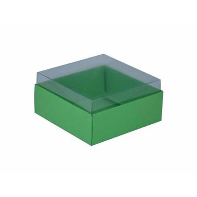 Caixa para 4 doces e bombons - Verde Maçã