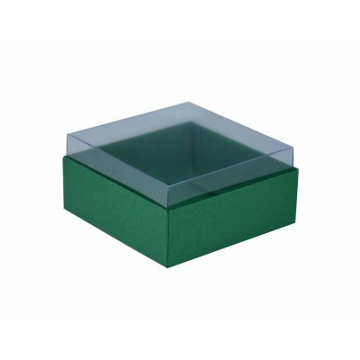 Caixa para 4 doces e bombons - Verde Brasil