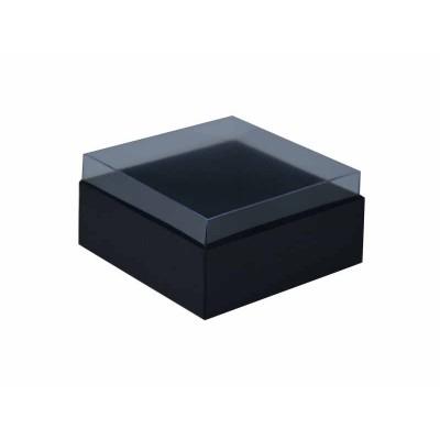 Caixa para 4 doces e bombons - Preto fosco