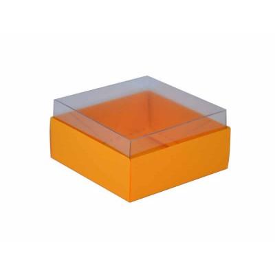 Caixa para 4 doces e bombons - Amarelo Intenso