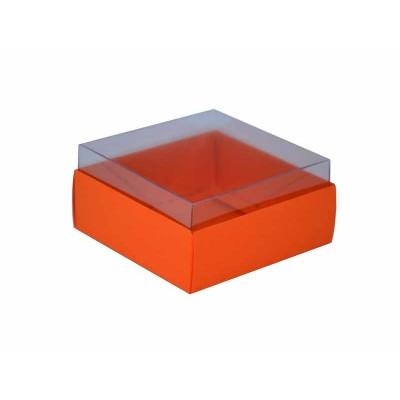 Caixa para 4 doces e bombons - Laranja / Cenoura