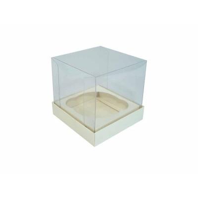 Caixa especial Cupcake - Marfim