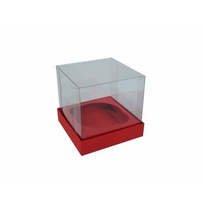 Caixa especial Cupcake - Vermelho Escuro