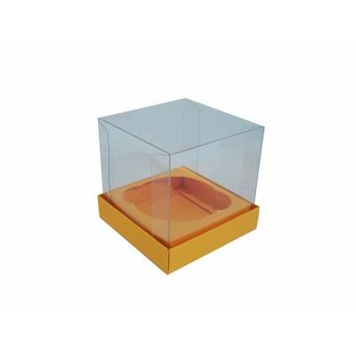 Caixa especial Cupcake - Amarelo Alaranjado