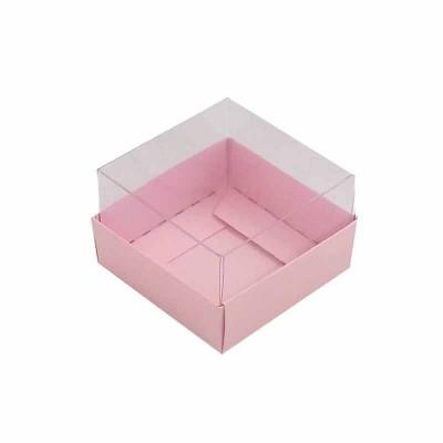 Caixa 1 macaron - Rosa Bebê