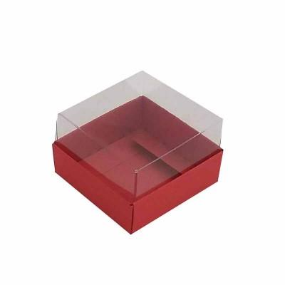 Caixa 1 macaron - Vermelho escuro
