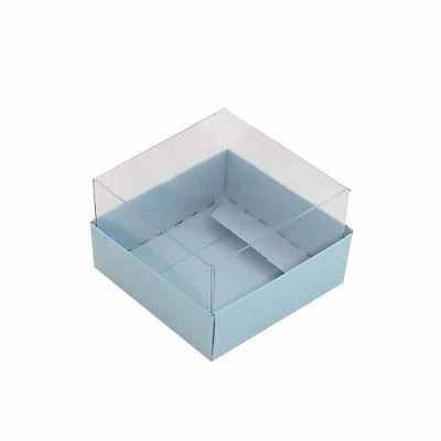 Caixa 1 macaron - Azul Bebê