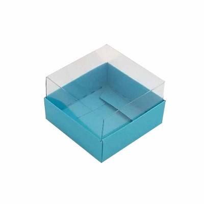 Caixa 1 macaron - Azul tipo Tiffany