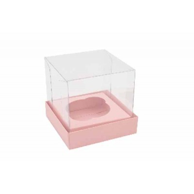 Caixa Mini Cupcake - Rosa Bebê