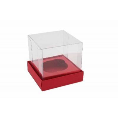 Caixa Mini Cupcake - Vermelho Escuro