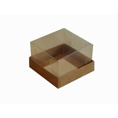Caixa para 1 brownie - Kraft - 6x6x4