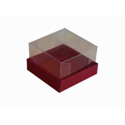 Caixa para 1 brownie - Vermelho escuro