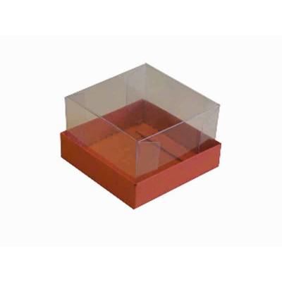Caixa para 1 brownie - Vermelho