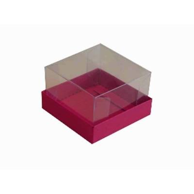 Caixa para 1 brownie - Rosa Pink