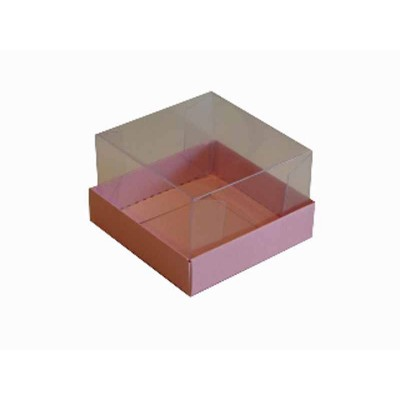 Caixa para 1 brownie - Rosa Claro