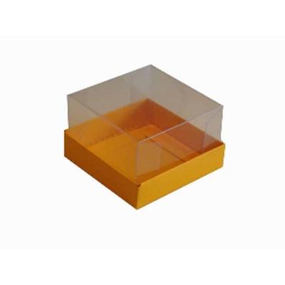 Caixa para 1 brownie - Amarelo Jamaica