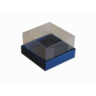 Caixa para 1 brownie - Azul escuro