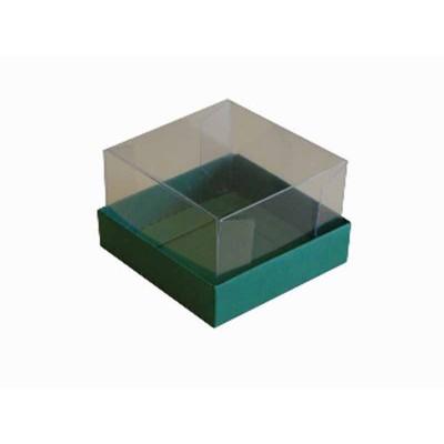 Caixa para 1 brownie - Verde bandeira