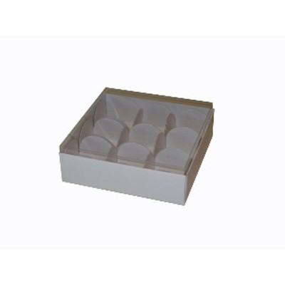 Caixa para 9 doces e bombons - Branco