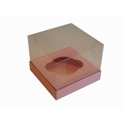 Caixa especial Cupcake - Rosa Salmão
