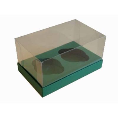 Caixa Verde Escuro 2 Cupcakes