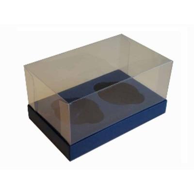 Caixa Azul Escuro 2 Cupcakes