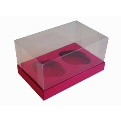 Caixa Rosa Pink 2 Cupcakes