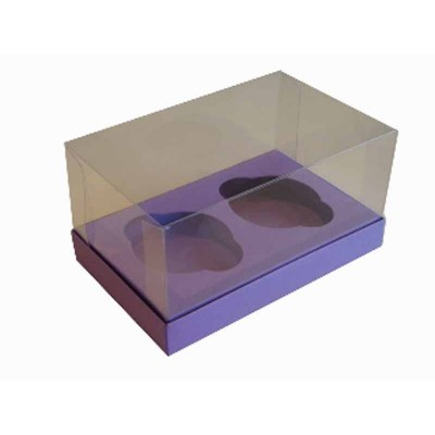 Caixa Roxo 2 Cupcakes