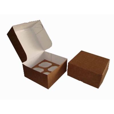 Caixa Kraft 4 Cupcakes