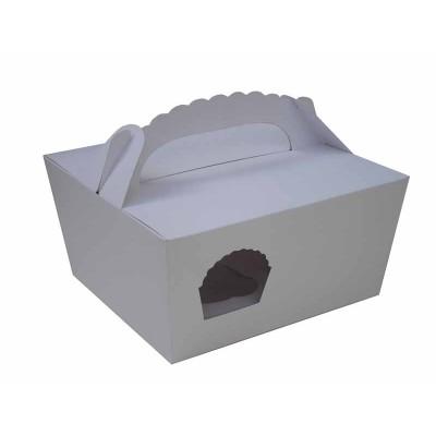 Caixa Maleta Branca 4 Cupcakes