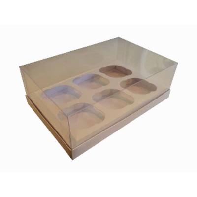 Caixa especial 6 Cupcakes - Branca