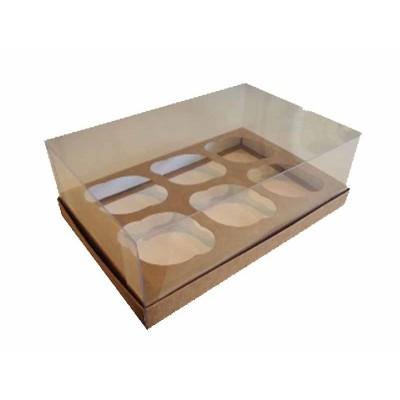 Caixa especial 6 Cupcakes - Kraft