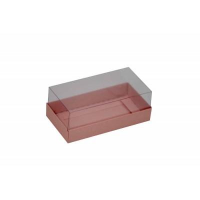 Caixa para 2 macarons deitados - Rosa claro