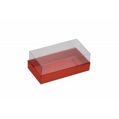 Caixa para 2 macarons deitados - Vermelho
