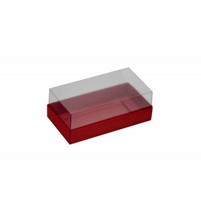 Caixa para 2 macarons deitados - Vermelho Escuro
