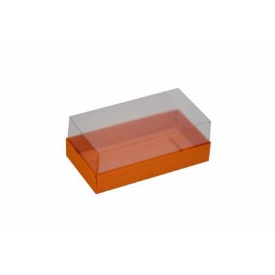 Caixa para 2 macarons deitados - Laranja