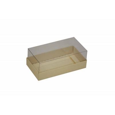 Caixa para 2 macarons deitados - Marfim