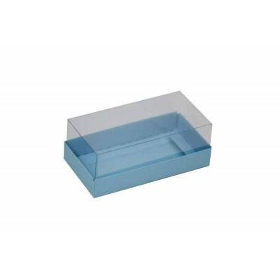 Caixa para 2 macarons deitados - Azul bebê