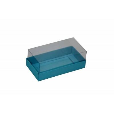Caixa para 2 macarons deitados - Azul tifanny