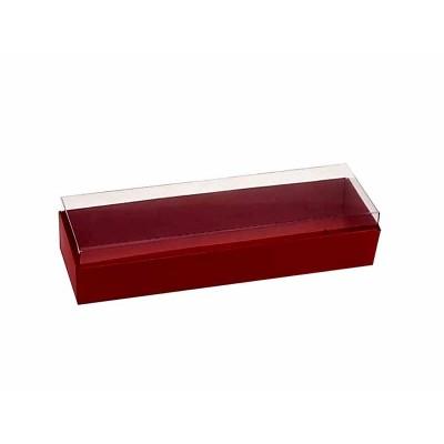 Caixa 3 macarons deitados - Vermelho Escuro