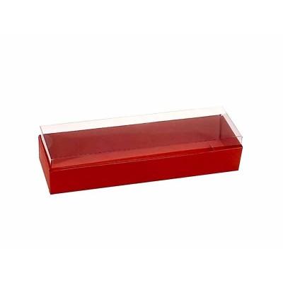 Caixa 3 macarons deitados - Vermelha