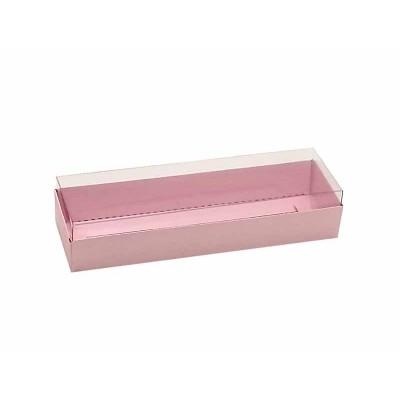 Caixa 3 macarons deitados - Rosa Bebê