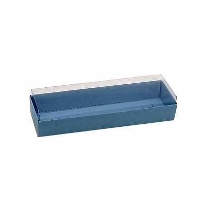 Caixa 3 macarons deitados - Azul Nice