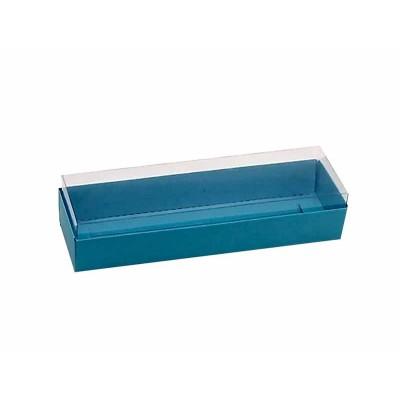 Caixa 3 macarons deitados - Azul Bahamas