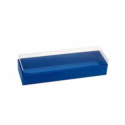 Caixa 3 macarons deitados - Azul Royal
