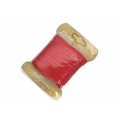 Fita de cetim 4 mm - vermelha
