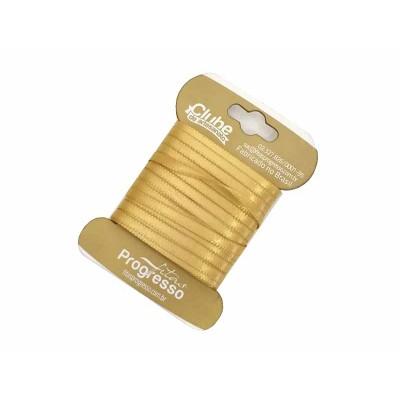 Fita de cetim 4 mm - dourada